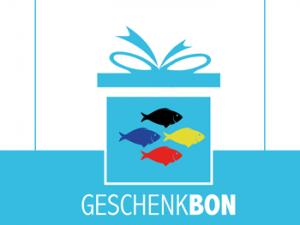 Carte cadeau pour l'achat de poissons ou nourriture de poissons.