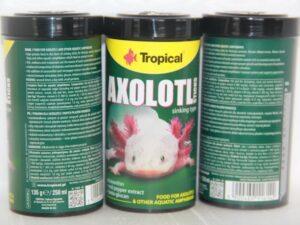 Axolotl sticks pot van 135g/250ml (zinkend voer voor carnivoren, ook voor xenopus)